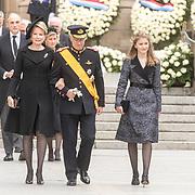 LUX/Luxemburg/20190504 - Funeral of HRH Grand Duke Jean/Uitvaart Groothertog Jean,Koning Philippe van belgie met Koningin Mathilde en prinses  Elisabeth
