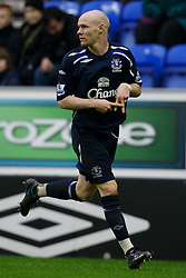 WIGAN, ENGLAND - Sunday, January 20, 2008: Everton's Andy Johnson celebrates scoring the opening goal against Wigan Athletic during the Premiership match at the JJB Stadium. (Photo by David Rawcliffe/Propaganda)