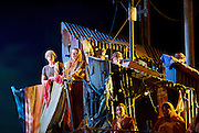 The Pearl Fishers <br /> music by Georges Bizet <br /> production by Penny Woolcock <br /> English National Opera, London Coliseum, London, Great Britain <br /> rehearsal <br /> 17th October 2016 <br /> <br /> chorus <br /> <br /> Photograph by Elliott Franks <br /> Image licensed to Elliott Franks Photography Services