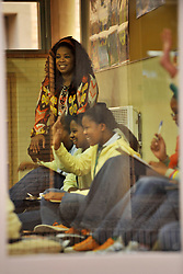5019<br /> 09.6.17<br /> Oprah Winfrey enjoys a class during Oprah Winfrey Leadership Academy for Girls' Arts Workshop week, during which the students were given a taste of a variety of disciplines in the arts. The school in Henley-On-Klip, has about 300 pupils from disadvantaged backgrounds, all of whom have shown academic promise.<br /> Picture: Cara Viereckl