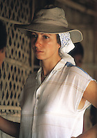 The Princess Royal,Princess Anne as President of Save the Children charity is seen on a trip to Pullakandi, Bangladesh,October 1984.Photographed by Jayne Fincher