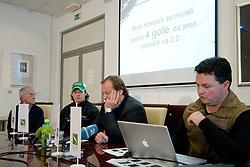 at press conference of HDD Tilia Olimpija about Andrej Hebar suspension for the season 2010-11, on November 23, 2010 at Hala Tivoli, Ljubljana, Slovenia. (Photo By Matic Klansek Velej / Sportida.com)