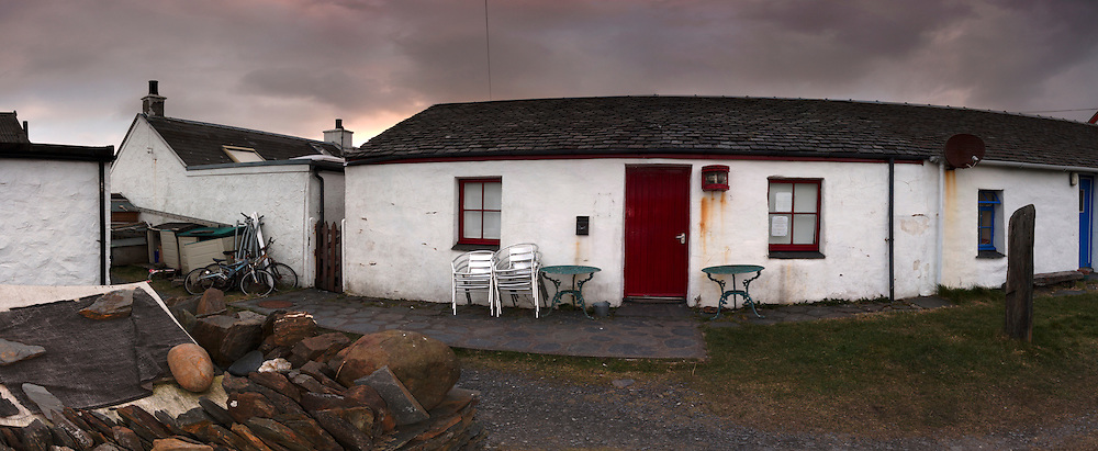 Easdale Island Village with cottages and pub