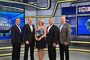 "The broadcast team and analysts for Fox Sports ""Race Hub""   which is broadcast from the Charlotte, North Carolina studios."