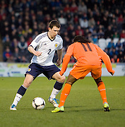 Scotland's Ryan Jack runs at Holland's Lerin Duarte - Scotland v Holland - UEFA U21 European Championship qualifier at St Mirren Park..© David Young - .5 Foundry Place - .Monifieth - .Angus - .DD5 4BB - .Tel: 07765 252616 - .email: davidyoungphoto@gmail.com.web: www.davidyoungphoto.co.uk