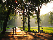 Early evening in Parc Lafontaine, in Montreal's Plateau area.