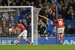 Bobby Zamora of Brighton & Hove Albion scores to make it 2-1 - Mandatory byline: Dougie Allward/JMP - 07966 386802 - 20/10/2015 - FOOTBALL - American Express Community Stadium - Brighton, England - Brighton v Bristol City - Sky Bet Championship