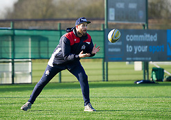 Bristol Rugby's Jon Fisher passes the ball during warm-up with academy players - Mandatory by-line: Paul Knight/JMP - 21/01/2017 - RUGBY - SGS Wise Campus - Bristol, England - Bristol Academy U18 v Saracens Academy U18 - Premiership Rugby Academy U18 League
