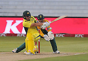 Aaron Finch of Australia during the 2016 T20 International Series match between South Africa and Australia in Kingsmead Stadium Durban, Kwa-Zulu Natal on 04 March 2016©Muzi Ntombela/Backpagepix