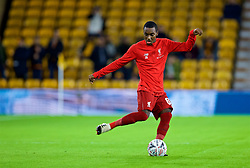 WOLVERHAMPTON, ENGLAND - Monday, January 7, 2019: Liverpool's Rafael Camacho during the pre-match warm-up before the FA Cup 3rd Round match between Wolverhampton Wanderers FC and Liverpool FC at Molineux Stadium. (Pic by David Rawcliffe/Propaganda)