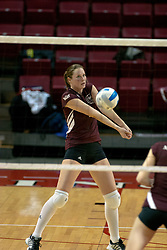 18 November 2005: Katie Kreimer grabs a high dig. Missouri State Bears clawed their way past the Illinois State Redbirds in 4 games to take the match played at Redbird Arena in Normal Illinois.