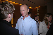 Johnnie Shand Kydd, Christopher Bailey hosts a party to celebrate the launch of ' The Snippy World of New Yorker Fashion Artist Michael Roberts' Burberry, New Bond St.  London. 19  September 2005. ONE TIME USE ONLY - DO NOT ARCHIVE © Copyright Photograph by Dafydd Jones 66 Stockwell Park Rd. London SW9 0DA Tel 020 7733 0108 www.dafjones.com