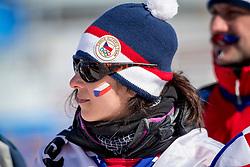 PYEONGCHANG, SOUTH KOREA - FEBRUARY 16:  Fan of the Czech Republic during the Women's Snowboard Cross at Phoenix Snow Park on February 16, 2018 in Pyeongchang-gun, South Korea.  Photo by Ronald Hoogendoorn / Sportida