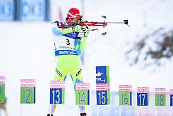 Jakov Fak (SLO) during Men 10 km Sprint of the IBU Biathlon World Cup Pokljuka on Thursday, December 16, 2015 in Pokljuka, Slovenia. Photo by Ziga Zupan / Sportida
