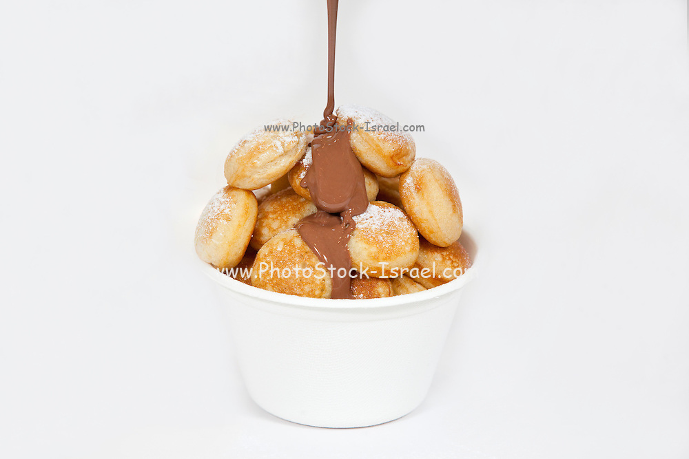 cream puffs with chocolate sauce