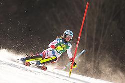 Elena Stoffel (SUI) during the Ladies' Slalom at 56th Golden Fox event at Audi FIS Ski World Cup 2019/20, on February 16, 2020 in Podkoren, Kranjska Gora, Slovenia. Photo by Matic Ritonja / Sportida