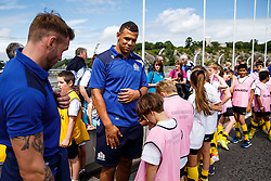 Ben Glynn looks on as Local Junior Schools take part in activities on the iconic Clifton Suspension Bridge with Bristol Rugby Players - Mandatory byline: Rogan Thomson/JMP - 07966 386802 - 14/07/2015 - SPORT - RUGBY UNION - Bristol, England - Clifton Suspension Bridge - Webb Ellis Cup visits Bristol as part of the 2015 Rugby World Cup Trophy Tour