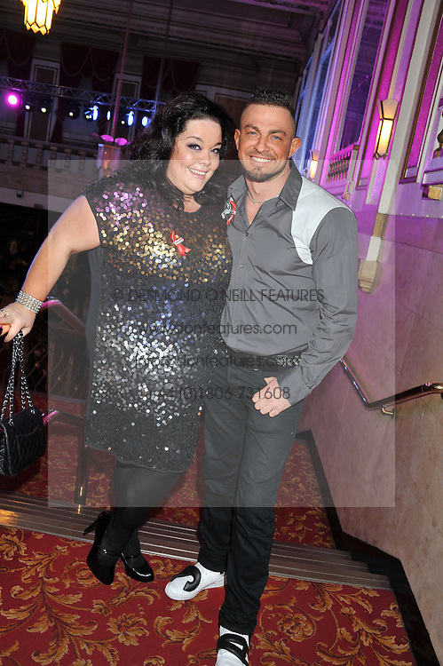 LISA RILEY and ROBIN WINDSOR at West End Eurovision 2013 held at the  Dominion Theatre, London on 23rd May 2013.
