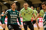 HÅNDBOLD: Kasper Søndergaard (Skjern) under kampen i 888-Ligaen mellem Nordsjælland Håndbold og Skjern Håndbold den 7. marts 2018 i Helsinge Hallen. Foto: Claus Birch.