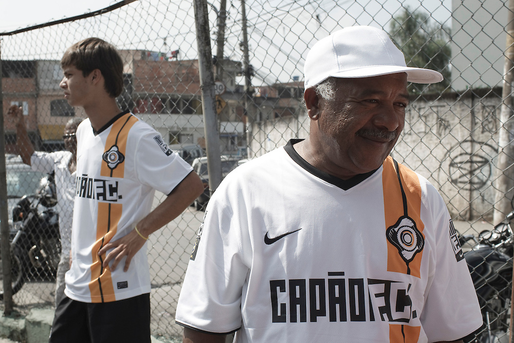 Sao Paulo, Brazil, Sunday - March 25, 2012: Launch of Capao FC football team project, and its Nike jersey at Capao Redondo neighborhood - Sao Paulo's outskirts.    (photo: Caio Guatelli)
