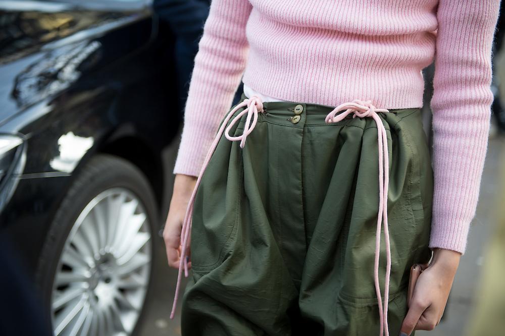 Pants with Ties, Outside Balmain FW2017