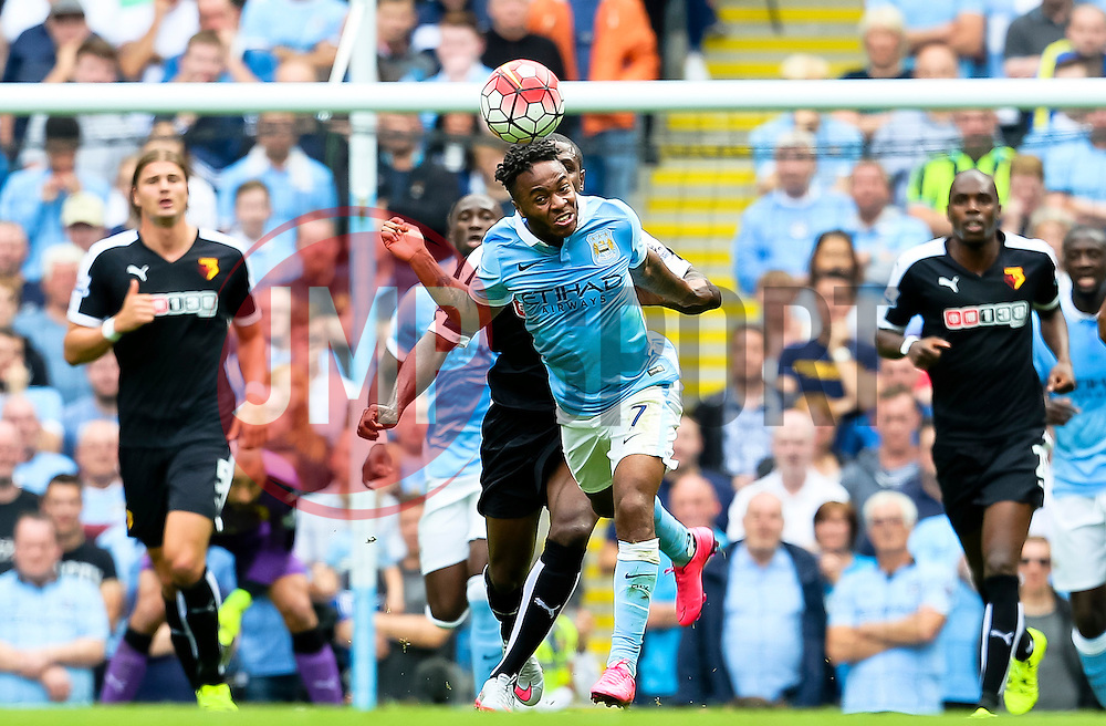 Raheem Sterling of Manchester City in action - Mandatory byline: Matt McNulty/JMP - 07966386802 - 29/08/2015 - FOOTBALL - Etihad Stadium -Manchester,England - Manchester City v Watford - Barclays Premier League