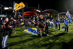 Worcester Warriors are led out to face Harlequins by Ryan Mills of Worcester Warriors - Mandatory by-line: Robbie Stephenson/JMP - 23/11/2018 - RUGBY - Sixways Stadium - Worcester, England - Worcester Warriors v Harlequins - Gallagher Premiership Rugby