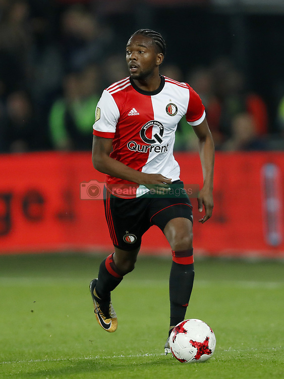 Miguel Nelom of Feyenoord during the Dutch Eredivisie match between Feyenoord Rotterdam and NAC Breda at the Kuip on September 23, 2017 in Rotterdam, The Netherlands