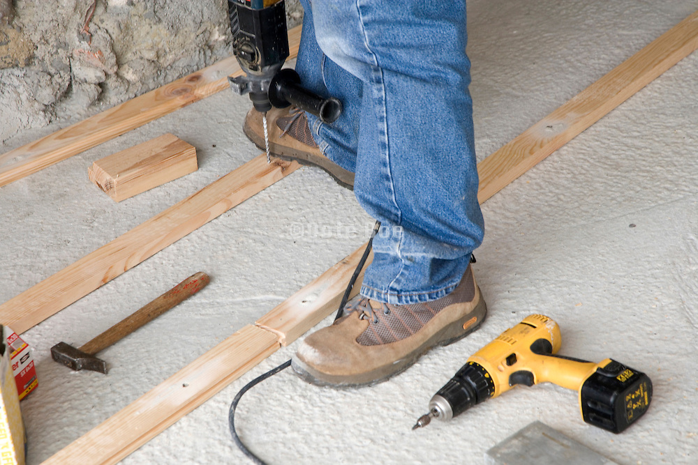 wood flooring installed in a house under construction