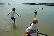 people are bathing in dobrogea region