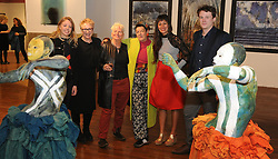Alice McLoughlin and Mary McLoughlin, Breda Burns, Janet Mullarney, Ivana Ortega and Vincent O'Donoghue at the opening of the two group shows Identity and Ipseity at the Westival Gallery. <br /> Pic Conor McKeown