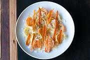 Ravioli. carrot, ricotta, brown butter, parmesanat a mano in Atlanta's Old Fourth Ward