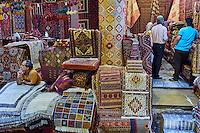Iran, province du Fars, Shiraz, le bazaar des tapis // Iran, Fars Province, Shiraz, carpet bazaar