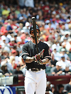 Apr. 7, 2012; Phoenix, AZ, USA; Arizona Diamondbacks infielder Ryan Roberts (14) against the San Francisco Giants at Chase Field.  The Diamondbacks defeated the Giants 5-4. Mandatory Credit: Jennifer Stewart-US PRESSWIRE..