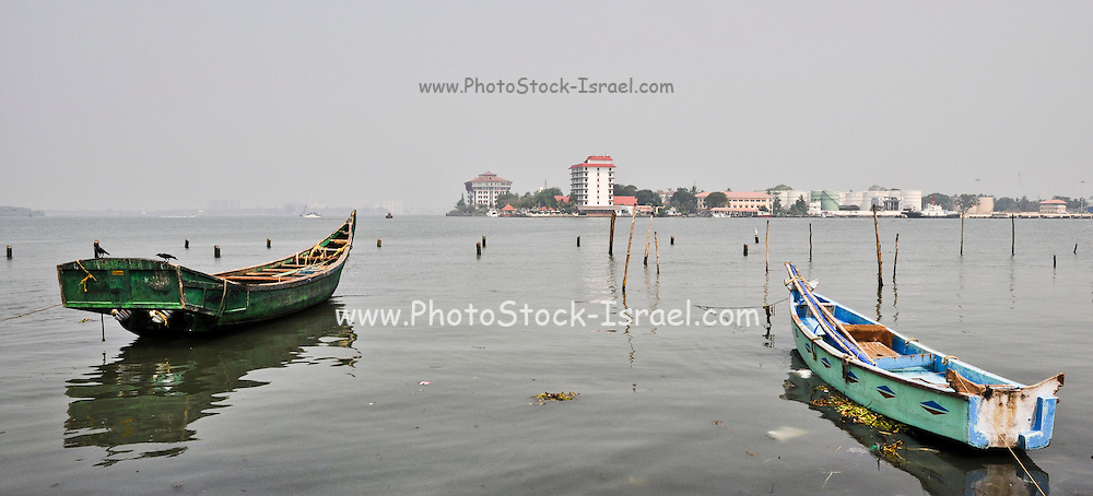 India, Kerala backwaters, fishing boat