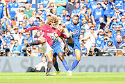 Marouane Fellaini Midfielder of Manchester United shoots at goal during the FA Community Shield match between Leicester City and Manchester United at Wembley Stadium, London, England on 7 August 2016. Photo by Phil Duncan.