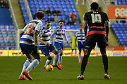 Reading's Chris Gunter starting the attack during the Sky Bet Championship match between Reading and Queens Park Rangers at the Madejski Stadium, Reading, England on 3 December 2015. Photo by Mark Davies.