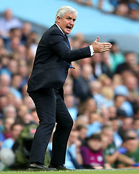 Stoke City manager Mark Hughes shouts instructions - Mandatory by-line: Matt McNulty/JMP - 14/10/2017 - FOOTBALL - Etihad Stadium - Manchester, England - Manchester City v Stoke City - Premier League