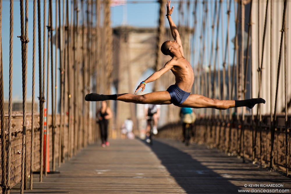 Dance As Art  New York City Photography Brooklyn Bridge Series with dancer, Daniel White