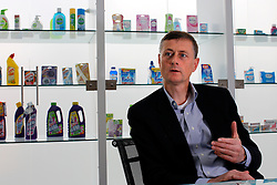 UK ENGLAND SLOUGH 22APR08 - Bart Becht, CEO of Reckitt Benckiser reacts during an interview at the company's headquarters in Slough, Berkshire.....jre/Photo by Jiri Rezac....© Jiri Rezac 2008....Contact: +44 (0) 7050 110 417..Mobile:  +44 (0) 7801 337 683..Office:  +44 (0) 20 8968 9635....Email:   jiri@jirirezac.com..Web:    www.jirirezac.com....© All images Jiri Rezac 2008 - All rights reserved.