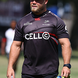 Akker van der Merwe during the cell c sharks pre season training session at  Growthpoint Kings Park ,22,01,2018 Photo by Steve Haag)
