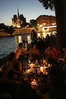 Picnic on the Seine. Photograph  by Owen Franken.........