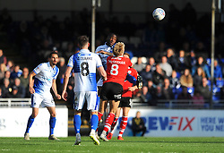 Abu Ogogo of Bristol Rovers heads the highball- Mandatory-by line: Nizaam Jones/JMP - 04/05/2019 - FOOTBALL - Memorial Stadium - Bristol, England - Bristol Rovers v Barnsley - Sky Bet League One