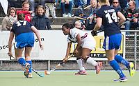 UTRECHT -  Maartje Scheepstra  tijdens de finale Veteranen hoofdklasse A dames tussen Kampong en Amsterdam. Kampong wint na shoot out. COPYRIGHT KOEN SUYK
