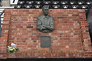 Memorial dedicated to former England and Derby County player Steve Bloomer (20 January 1874 – 16 April 1938) during the Sky Bet Championship match between Derby County and Milton Keynes Dons at the iPro Stadium, Derby, England on 13 February 2016. Photo by Jon Hobley.