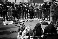 EGYPT, Cairo: Pray in Tahrir square. ph. Christian Minelli.