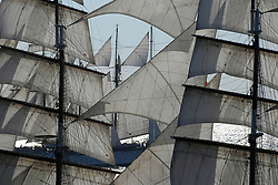 , Argentina - 2/7/2010 - Sails of tall ships in regatta(Photo by Marcelo Gurruchaga/VWPics) *** Please Use Credit from Credit Field *** *** Please Use Credit from Credit Field ***