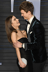 March 4, 2018 - Los Angeles, CA, U.S. - 04 March 2018 - Los Angeles, California - Ansel Elgort, Violetta Komyshan. 2018 Vanity Fair Oscar Party following the 90th Academy Awards held at the Wallis Annenberg Center for the Performing Arts. Photo Credit: Birdie Thompson/AdMedia (Credit Image: © Birdie Thompson/AdMedia via ZUMA Wire)