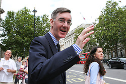 © Licensed to London News Pictures. 06/08/2019. London, UK. Leader of the House of Commons JACOB REES-MOGG outside Cabinet Office in Whitehall. Photo credit: Dinendra Haria/LNP