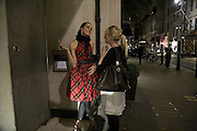 Sophia Rugge and Nathalie Burgun, Tatler's Little Black Book party. Tramp. Jermyn St.  London. 7 November 2007. -DO NOT ARCHIVE-© Copyright Photograph by Dafydd Jones. 248 Clapham Rd. London SW9 0PZ. Tel 0207 820 0771. www.dafjones.com.